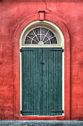 Brenda Bryant Prints - French Quarter Arched Door Print by Brenda Bryant