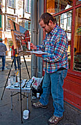 New Orleans Oil Photos - French Quarter Artist by Steve Harrington