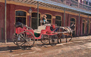 Kathleen K Parker - French Quarter Carriage in the Vieux Carre New Orleans