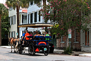 Myrtle Green Prints - French Quarter - Charleston SC Print by Suzanne Gaff