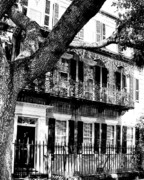 Charleston Houses Prints - FRENCH QUARTER Charleston SC Print by William Dey