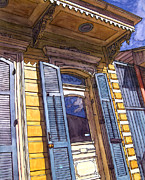 French Door Painting Prints - French Quarter Door #346 Print by John Boles