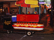 Lucky Dogs Prints - French Quarter Late at Night Print by Dominic Piperata