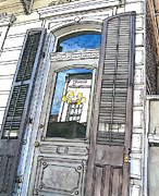 Porch Painting Originals - French Quarter Reflection by John Boles