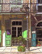 French Door Prints - French Quarter Shop 369 Print by John Boles