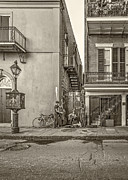 Trio Prints - French Quarter Trio sepia Print by Steve Harrington