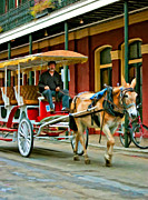  Paint Horse Posters - French Quarter Wheels oil Poster by Steve Harrington