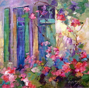 Daily Painter Prints - French Roses and Windows Print by Carol Hopper