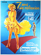 Motion Picture Star Prints - French Seven Year Itch Marilyn Monroe Print by Nomad Art And  Design