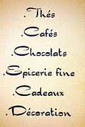 Calligraphy Prints - French Store Sign Print by Olivier Le Queinec