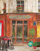 Chairs Paintings - French Storefront 1 by Debbie DeWitt