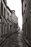 Town Center Prints - French Street Print by Olivier Le Queinec