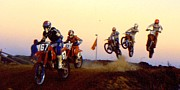 Knobbly Framed Prints - French supercross 88 Framed Print by Guy Pettingell