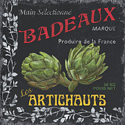 French Veggie Labels 1 Print by Debbie DeWitt