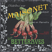 French Veggie Labels 2 Print by Debbie DeWitt