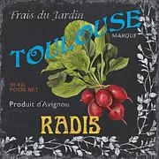 French Veggie Labels 3 Print by Debbie DeWitt