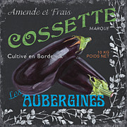 French Veggie Labels 4 Print by Debbie DeWitt