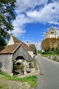 Medieval Style Prints - French Village Road Print by Olivier Le Queinec