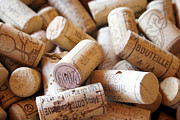 Beige Prints - French Wine Corks Print by Georgia Fowler