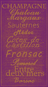 Medoc Posters - French Wines-3 - Champagne and Bordeaux Region Poster by Paulette Wright