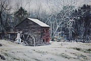East Tennessee Paintings - Frenchs Mill by Russell Fox