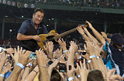 Bruce Springsteen. Framed Prints - Frenzy at Fenway Framed Print by Jeff Ross