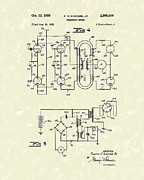 Frequency Art - Frequency Meter 1959 Patent Art by Prior Art Design