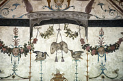 Floral Photos Photos - Fresco on the Ceiling in Palazzo Vecchio by Melany Sarafis