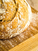Home Made Food Photos - Fresh Baked Loaf of Artisan Bread by Edward Fielding