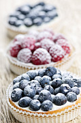 Cakes Posters - Fresh berry tarts Poster by Elena Elisseeva