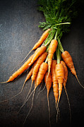 Natural Food Prints - Fresh carrots Print by Kati Molin