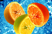 Mineral Art - Fresh citrus background by Michal Bednarek
