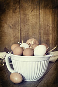 Eggs Photos - Fresh Eggs by Christopher and Amanda Elwell