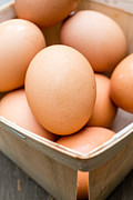 Fresh Food Metal Prints - Fresh Eggs Metal Print by Edward Fielding