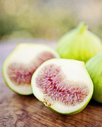 Kitchen Photos Posters - Fresh Figs Poster by Kim Lucian