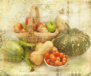 Fresh From The Garden Print by Linda Lees