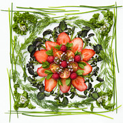 Salad Framed Prints - Fresh Fruit Salad Framed Print by Anne Gilbert