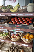 Grocery Store Prints - Fresh Fruits and Vegetables At the Union County Store  Print by Terri Thompson