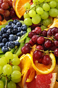 Fruit Photo Metal Prints - Fresh Fruits Metal Print by Elena Elisseeva