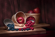 Raspberries Framed Prints - Fresh Fruits Still Life Framed Print by Tom Mc Nemar