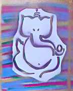 Stencil Art Paintings - Fresh Ganesh 1 by Tony B Conscious