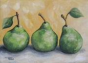 Pear Painting Acrylic Prints - Fresh Green Pears Acrylic Print by Torrie Smiley