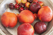 Bing Art - Fresh Nectarines Plums and Cherries by Rich Franco