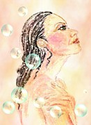 Shower Pastels Prints - Fresh New Day Print by Desline Vitto