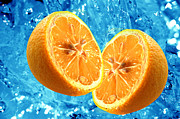 Tasty Art - Fresh orange background by Michal Bednarek
