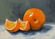 Orange Painting Metal Prints - Fresh Orange III Metal Print by Torrie Smiley