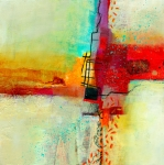 Abstract Prints - Fresh Paint #2 Print by Jane Davies