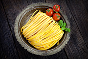 Spaghetti Posters - Fresh pasta Poster by Mythja  Photography