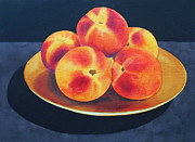 Peaches Painting Prints - Fresh Peaches Print by Jean Yates