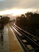 Ridgewood Photo Framed Prints - Fresh Pond Rd Station Framed Print by Mieczyslaw Rudek Mietko